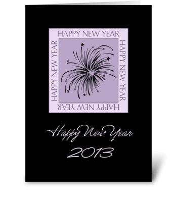 Happy New Year 2013 Fireworks greeting card
