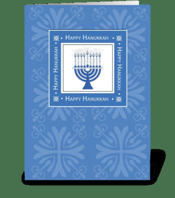 Hanukkah in Blue greeting card