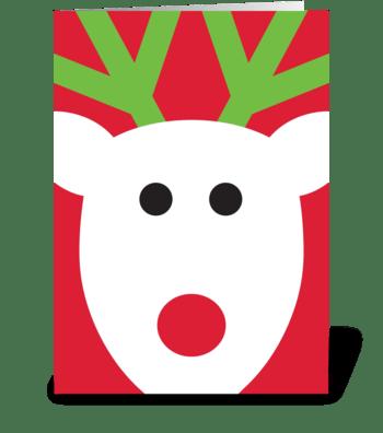 Reindeer greeting card