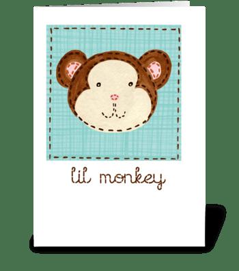 Lil Monkey greeting card