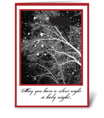 Black & White Religious Christmas Silent greeting card