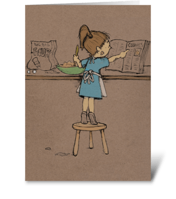 Making Cookies greeting card