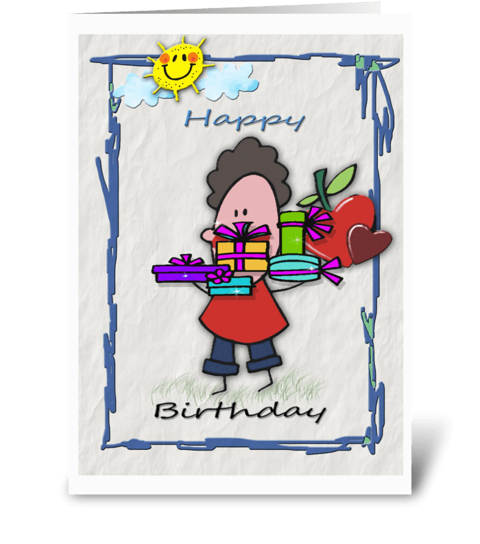 Happy Birthday, Presents greeting card