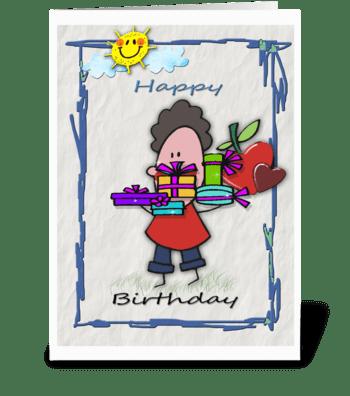Happy Birthday, Presents greeting card