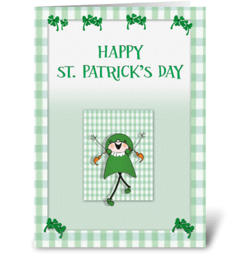 Happy St. Patrick's Day, fun card greeting card