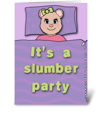 Bear Slumber Party Invitation greeting card
