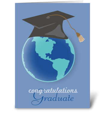World of Opportunities - Graduation greeting card