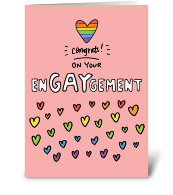 EnGAYgement Gay Engagement Card greeting card