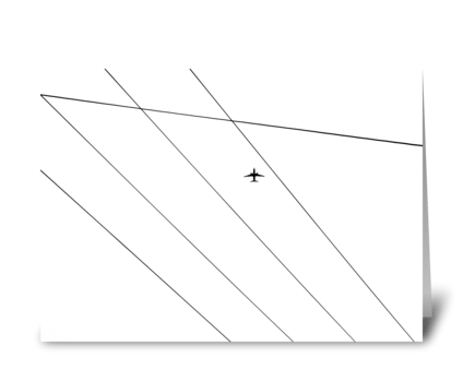 Airplane Power Lines greeting card