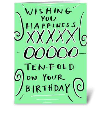 Happiness Ten-Fold greeting card