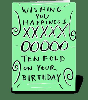 Happiness Ten-Fold greeting card