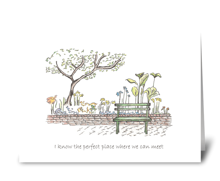 I know the perfect place greeting card