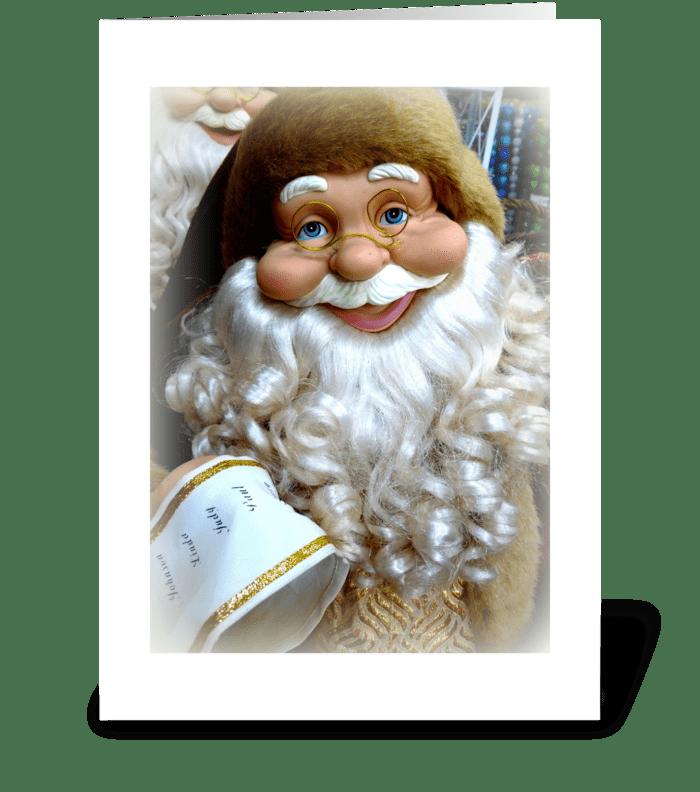 Santa's Christmas List greeting card