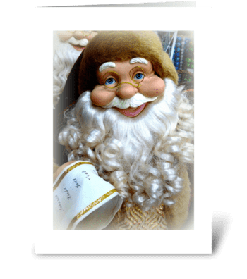 Santa's Christmas List greeting card