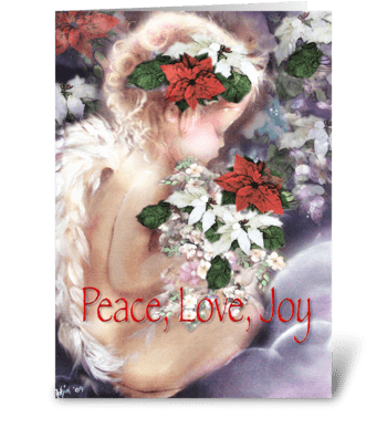 Christmas Angel, Holiday Greeting greeting card