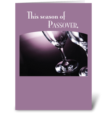 Passover Wine Glasses greeting card