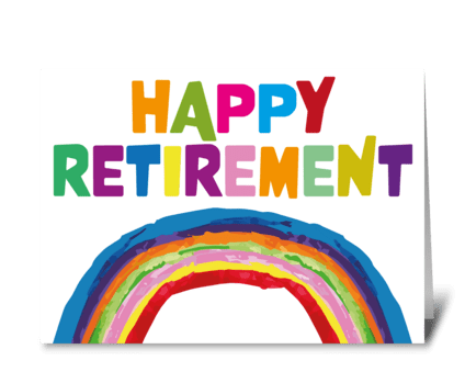 86 Retirement Rainbow greeting card