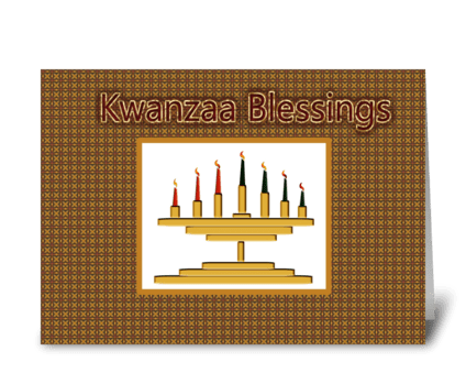 Kwanzaa Kinara  greeting card