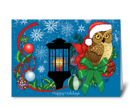 Holiday Owl greeting card
