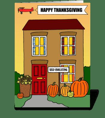 Covid 19 Happy Thanksgiving Humor greeting card