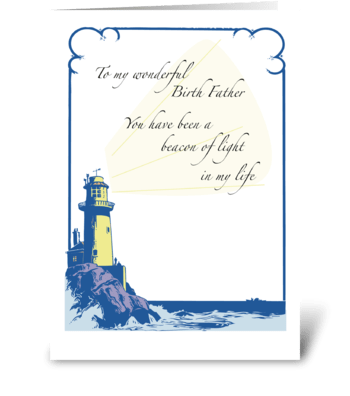 Father's Day for Birth Father with Light greeting card
