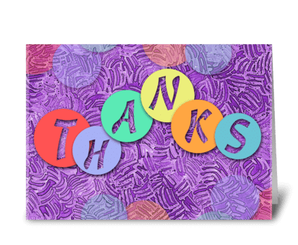 Tokens of Appreciation greeting card