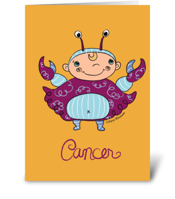 Little Cancer greeting card