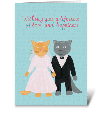 For newlyweds greeting card