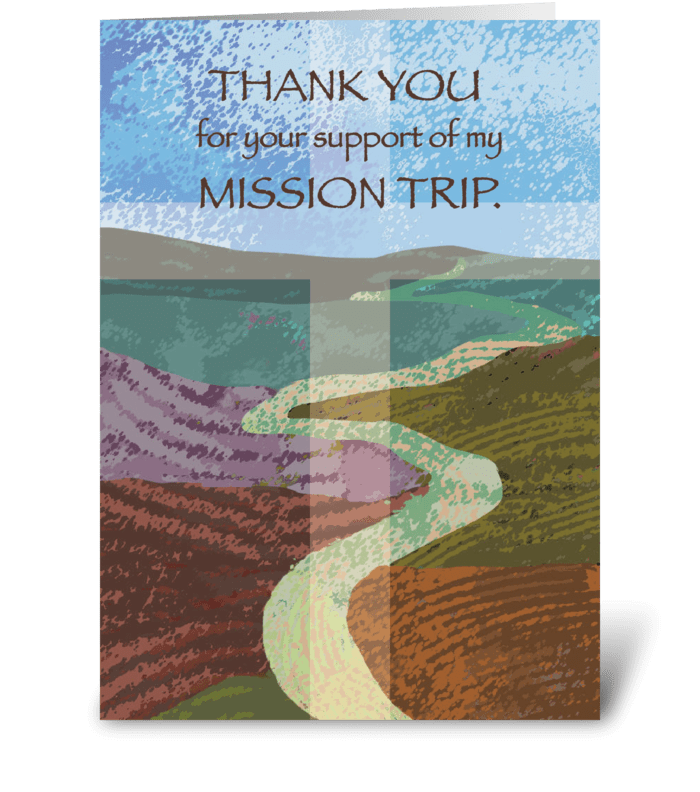 Thank You Mission Trip Support Journey greeting card