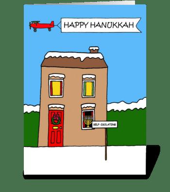 Covid 19 Happy Hanukkah greeting card