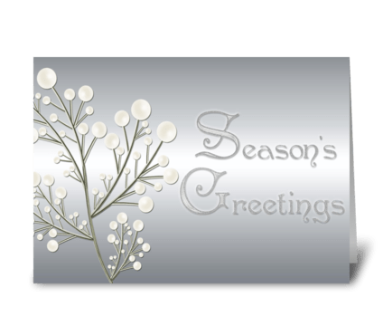 Silver, Season's Greetings  greeting card