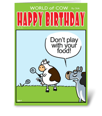 Play with your food Birthday Card greeting card