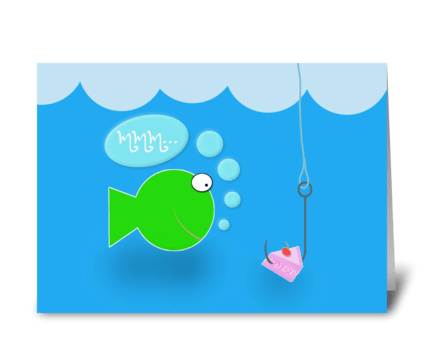 Fishy Birthday greeting card