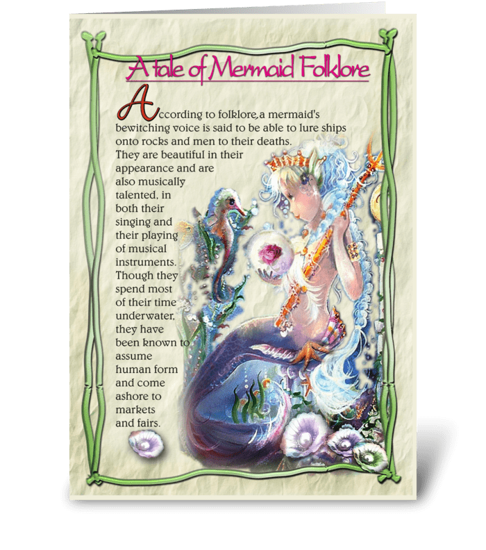 Mermaid Folklore greeting card