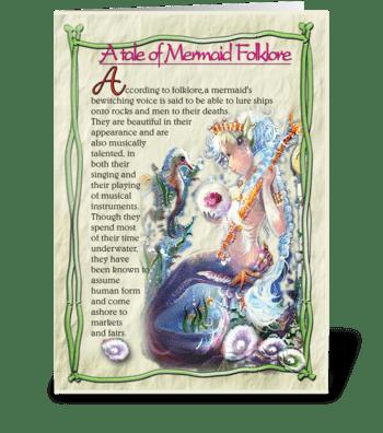 Mermaid Folklore greeting card