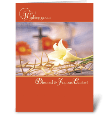 Blessed and Joyous Easter, Religious greeting card