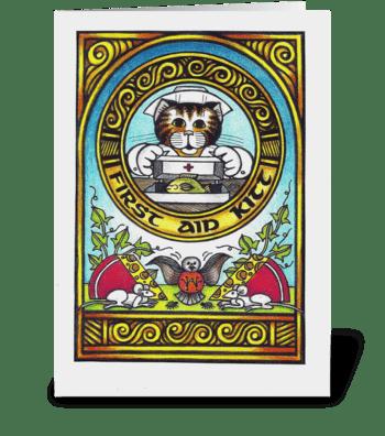 First Aid Kitt greeting card