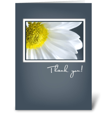Thank You, with Daisy greeting card