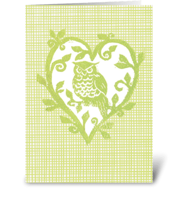 Hoo Loves You greeting card