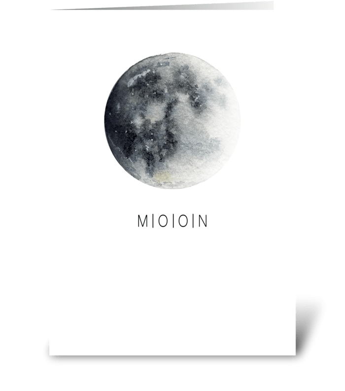 Moon card greeting card