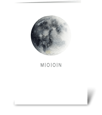 Moon card greeting card
