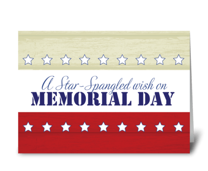 Memorial Day, Star Spangled Wish greeting card