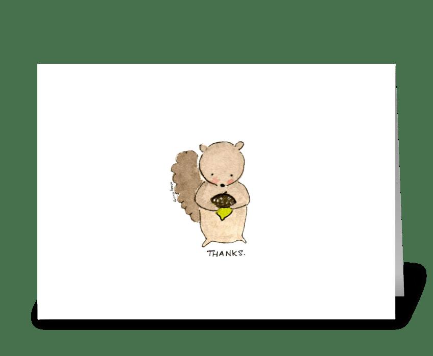 Sweet Thankful Squirrel greeting card
