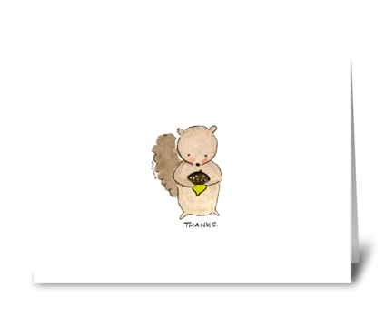 Sweet Thankful Squirrel greeting card