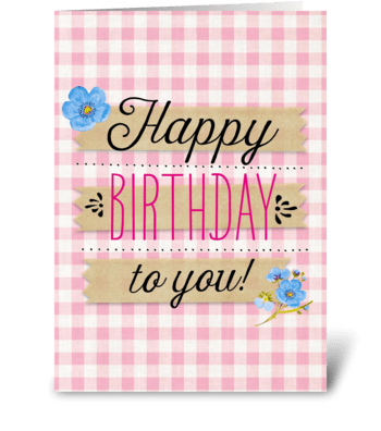 Tartan Birthday greeting card