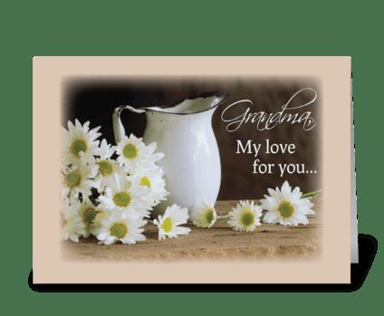 Grandma Daisies Grandparents Day greeting card