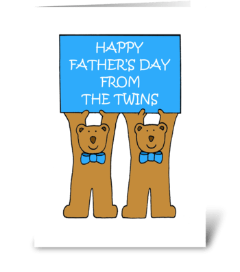 Happy Father's Day from the Twins greeting card