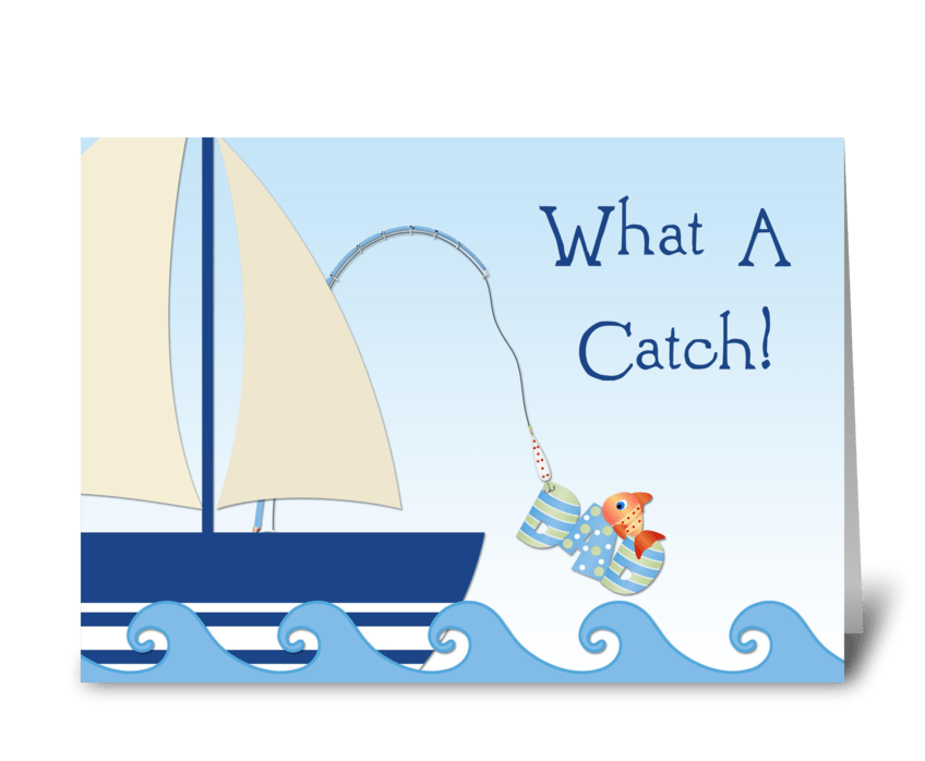 Father's Day Fishing greeting card