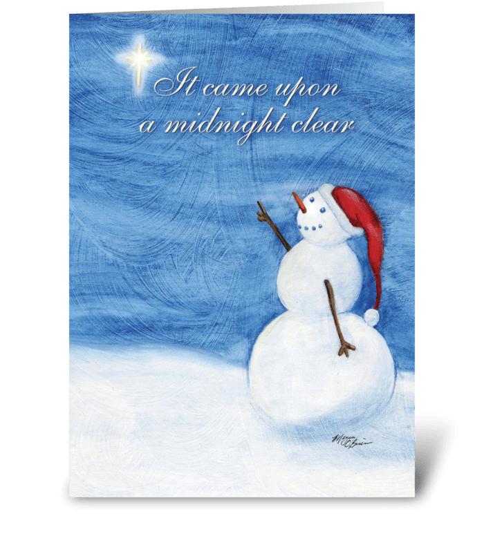A Midnight Clear greeting card