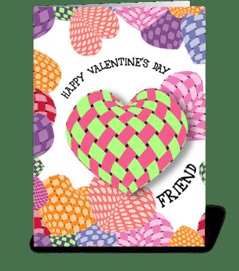 Friendship Hearts - Valentine greeting card